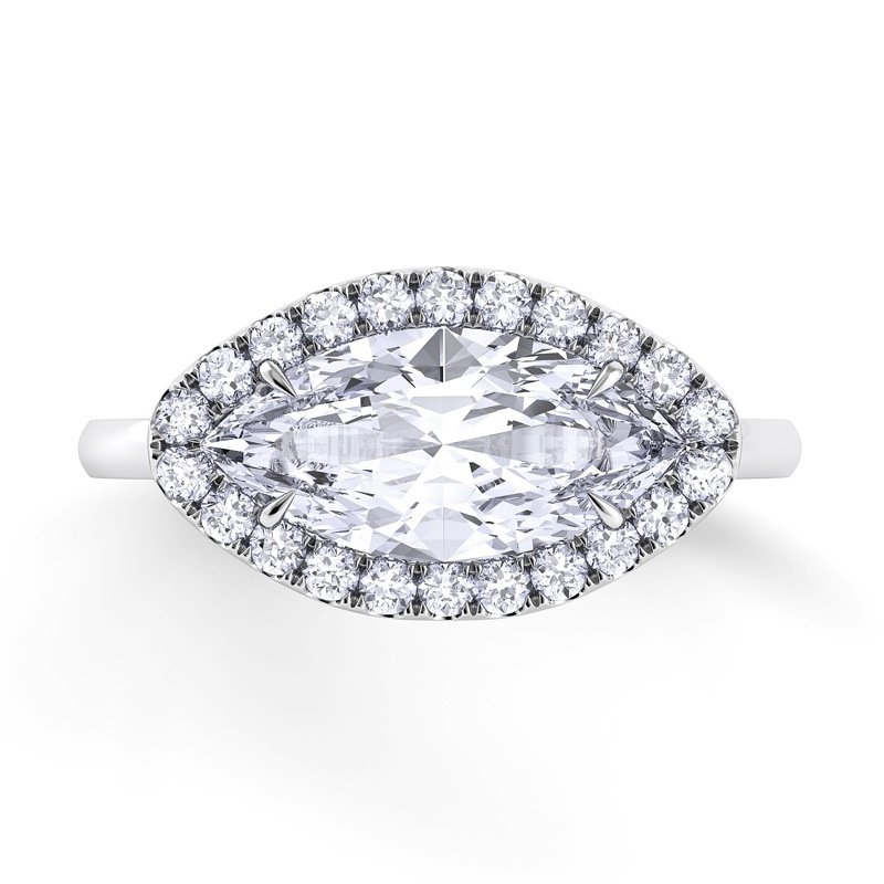 Danhov Per Lei Single Shank Engagement Ring