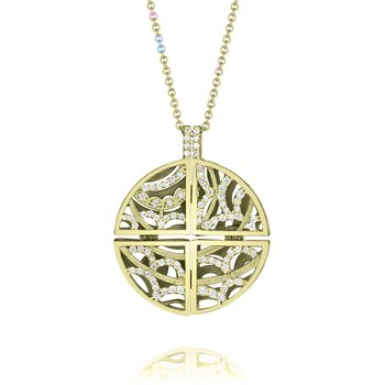 Circle Medallion Pendant Necklace