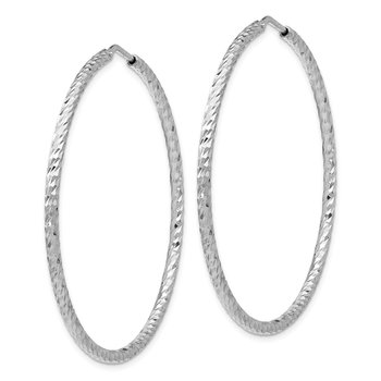 Leslie's Sterling Silver Diamond-cut Endless Hoop Earrings