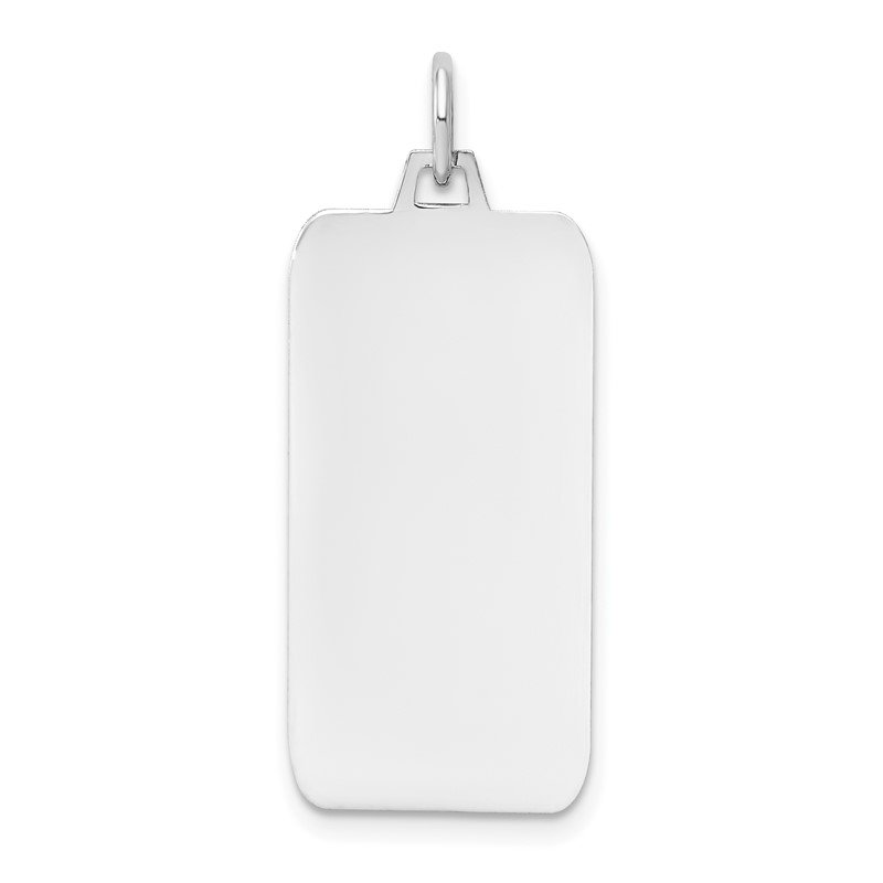 Quality Gold 14k White Gold Plain .018 Gauge Rectangular Engravable Dog Tag