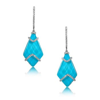 St. Barths Blue Turquoise Earrings