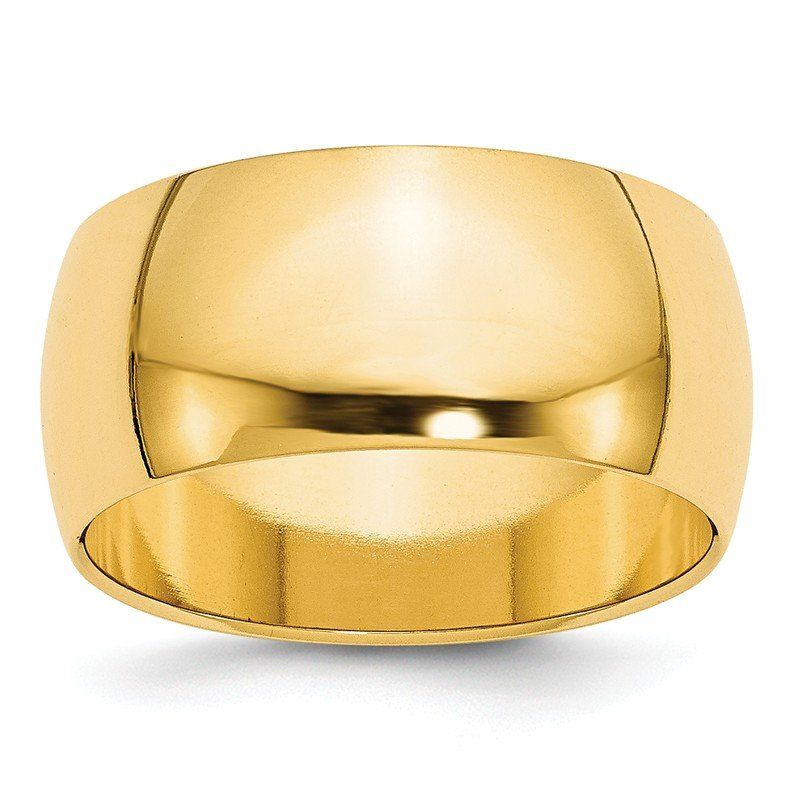 Quality Gold 14KY 10mm Half Round Band Size 10