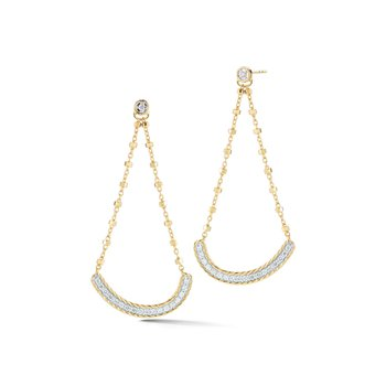 Yellow Gold & Diamond Chandelier Earrings