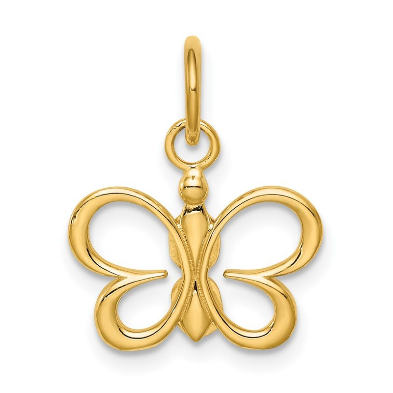 Quality Gold 14k Butterfly Pendant