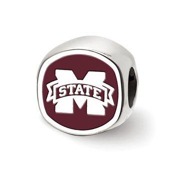 Sterling Silver Mississippi State University NCAA Bead
