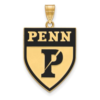 Gold-Plated Sterling Silver University of Pennsylvania NCAA Pendant