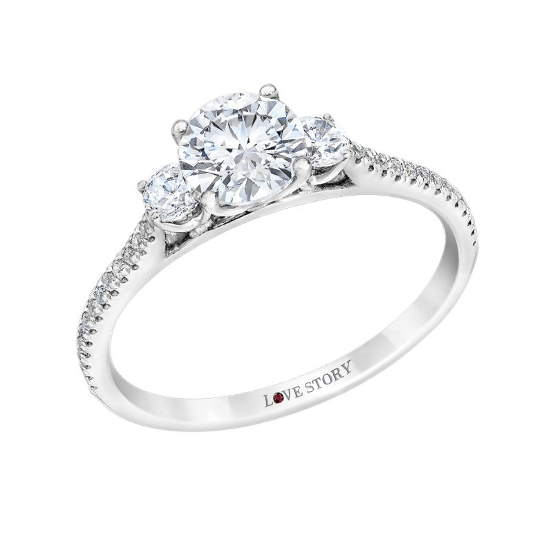 Side Stone Engagement Ringby Love Story
