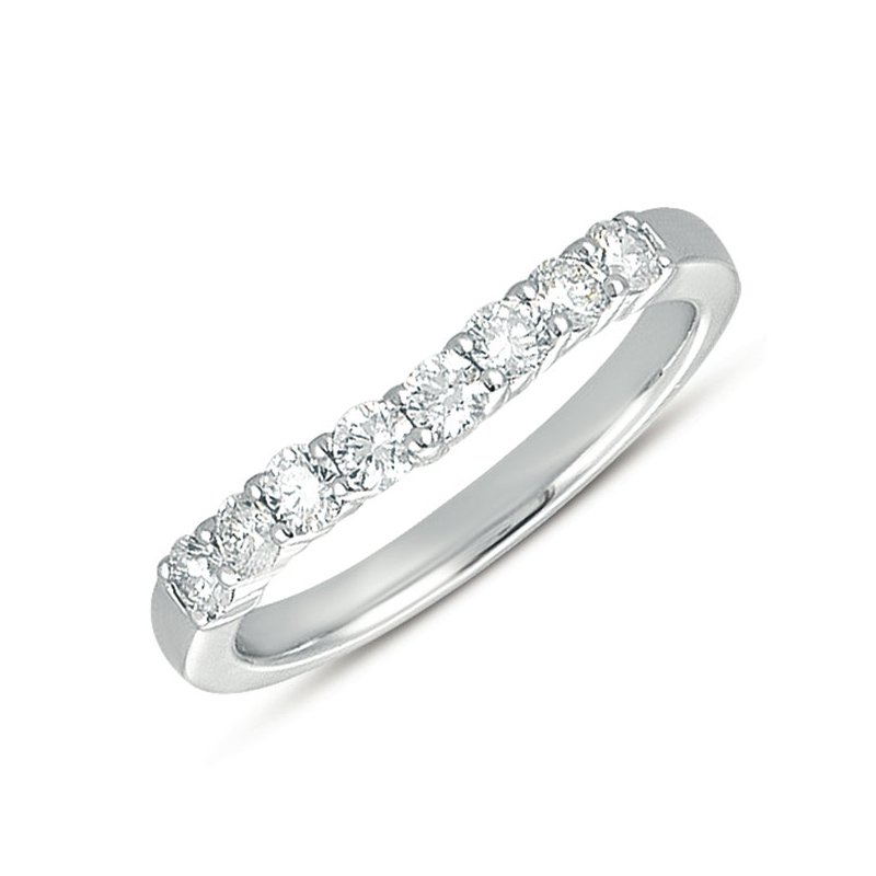S. Kashi & Sons Bridal Curved Platinum Diamond Band