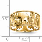 Quality Gold 14k Lucky Symbols Cut Out 9mm Band