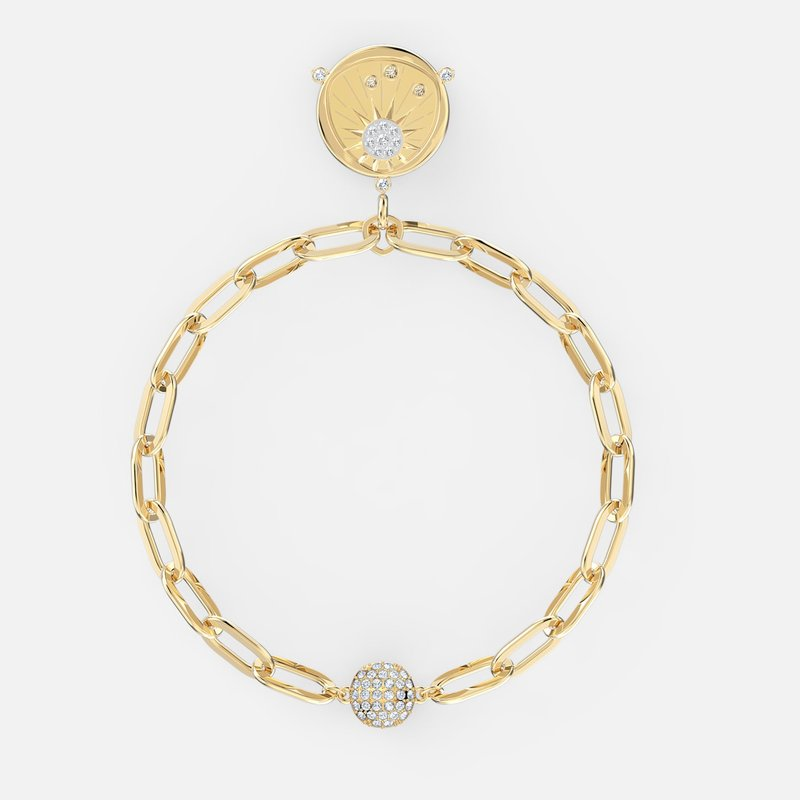 Swarovski The Elements Sun Bracelet, White, Gold-tone plated