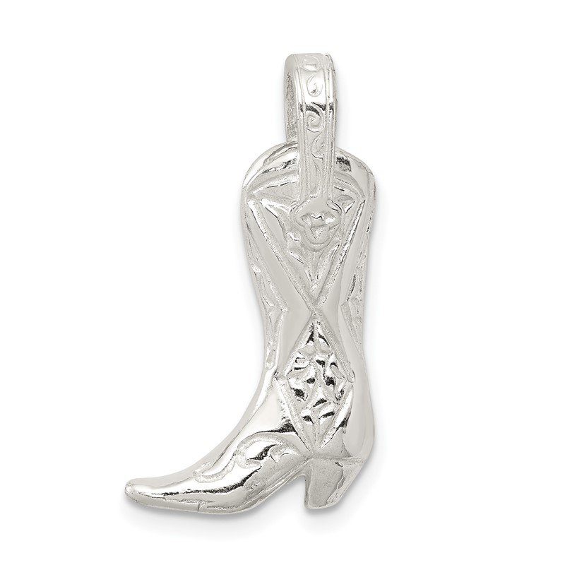 Quality Gold Sterling Silver Cowboy Boot Charm