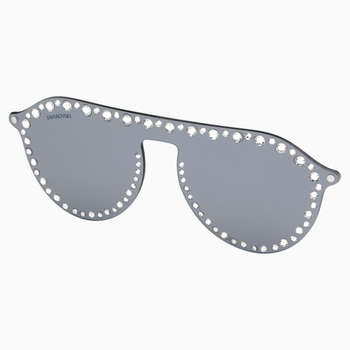 Swarovski Click-on Mask for Sunglasses, SK5329-CL 16C, Gray