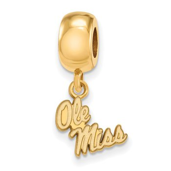 Gold-Plated Sterling Silver University of Mississippi NCAA Bead