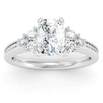 Channel & Prong Set Diamond Engagement Ring