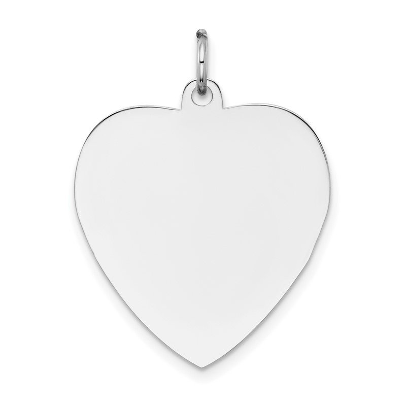 Quality Gold 14k White Gold Plain .035 Gauge Engravable Heart Charm