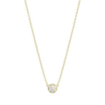Petite Dew Drop Pendant featuring Pavé Diamonds