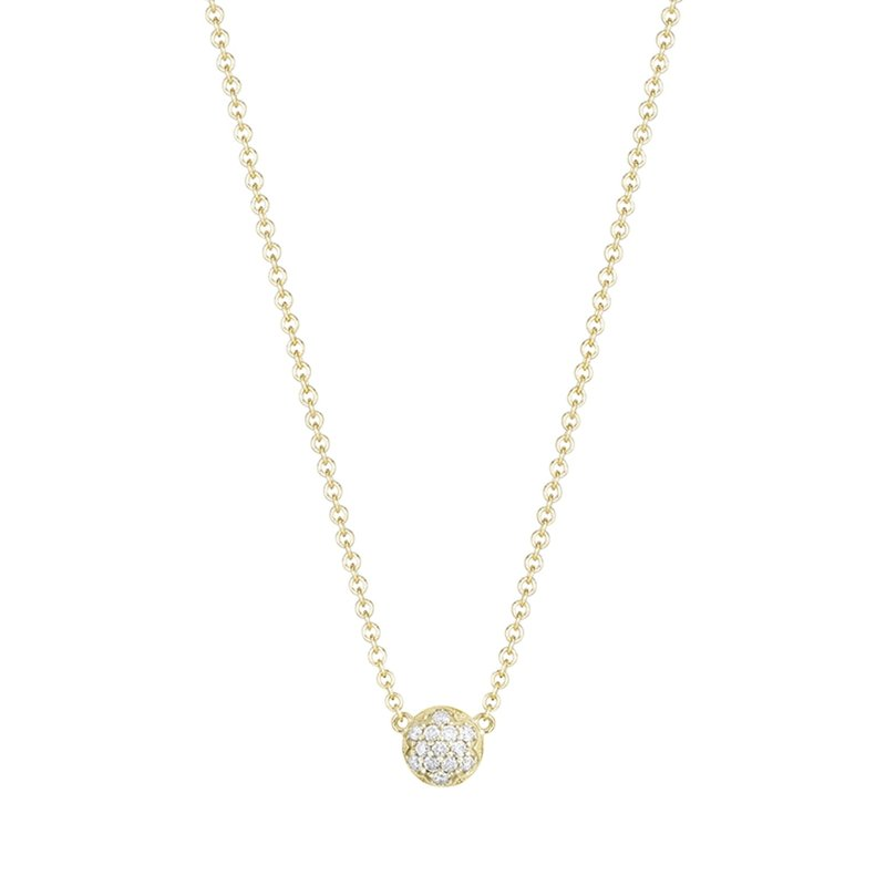 Tacori Fashion Petite Dew Drop Pendant featuring Pavé Diamonds