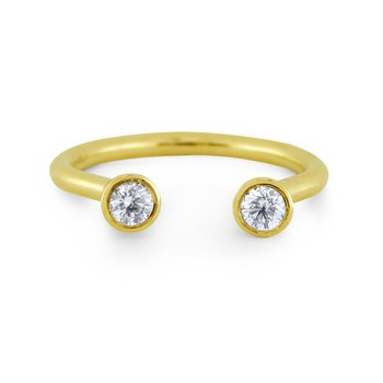 14K Diamonds Two Stone Ring