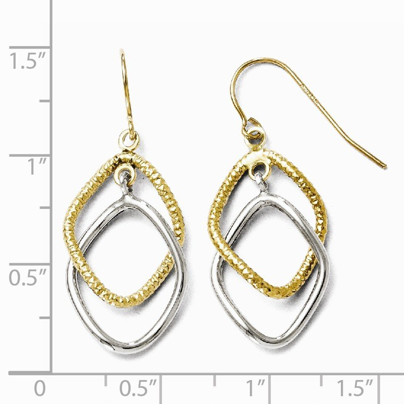 Leslie's Leslie's 10K Two-tone Shepherd Hook Dangle Earrings