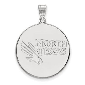 Sterling Silver University of North Texas NCAA Pendant