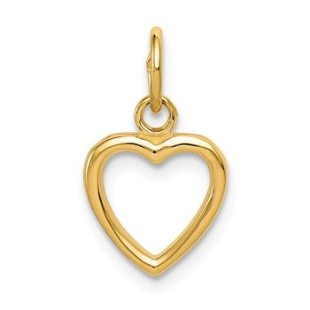 14K Polished Cut-out Heart Pendant