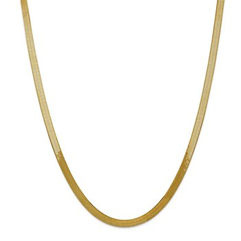 14k 5mm Silky Herringbone Chain
