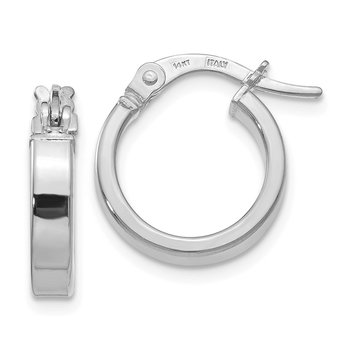 Leslie's 14K White Gold Polished Hoop Earrings