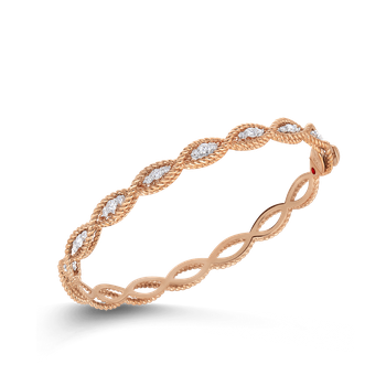 1 Row Bangle With Diamonds &Ndash; 18K Rose Gold
