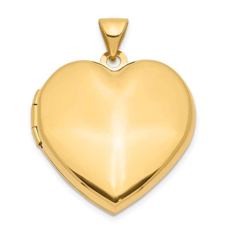 Quality Gold 14k Domed Heart Family Locket