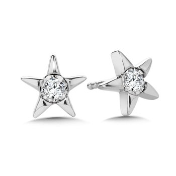 Star-Shaped Diamond Star Studs