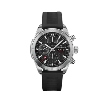 Adventure Sport Chrono Day/Date 41 Black Dial Black Rubber Strap Watch