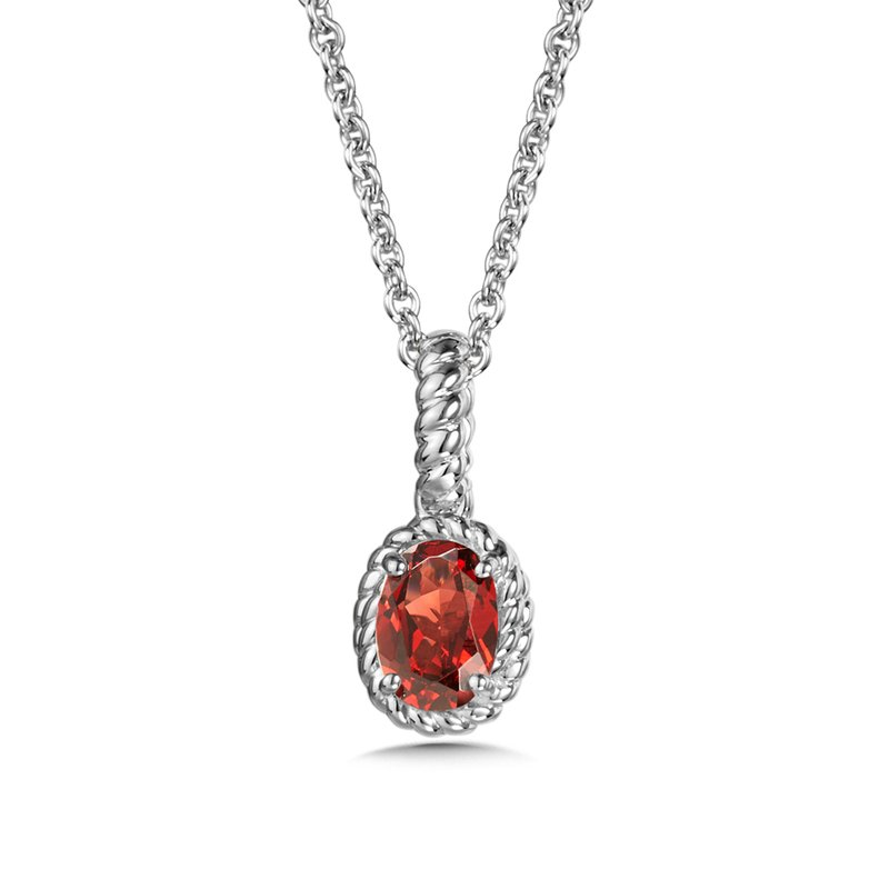 SDC Creations Garnet Pendant in Sterling Silver