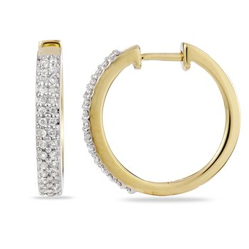 14K YG Diamond Huggy Earring