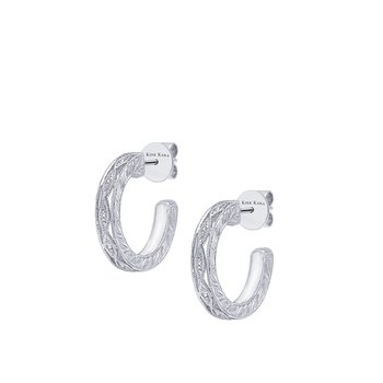 Kirk Kara 18K White Gold Diamond Hoop Earrings