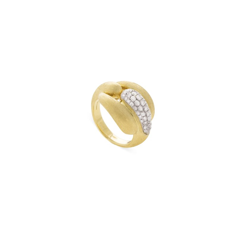 Marco Bicego Marco Bicego® Lucia Collection 18K Yellow Gold Large Link Ring with Diamonds