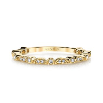 MARS 26605 Stackable Ring, 0.10 Ctw.