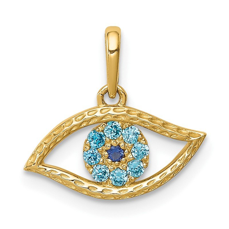 Lester Martin Online Collection 14K Blue CZ Eye Pendant