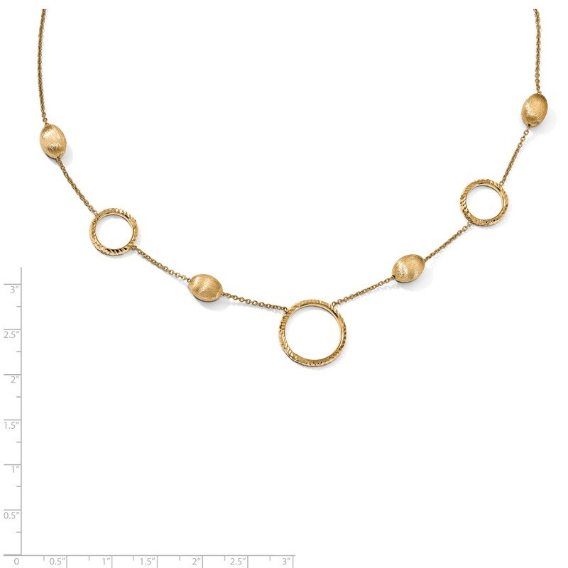 JC Sipe Essentials Leslie's 14k Polished D/C Scratch-finish with .75in ext. Necklace