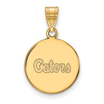 Gold-Plated Sterling Silver University of Florida NCAA Pendant