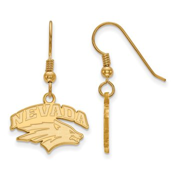 Gold-Plated Sterling Silver University of Nevada NCAA Earrings