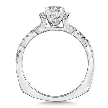 Diamond Engagement Ring Mounting in 14K White Gold (.29 ct. tw.)