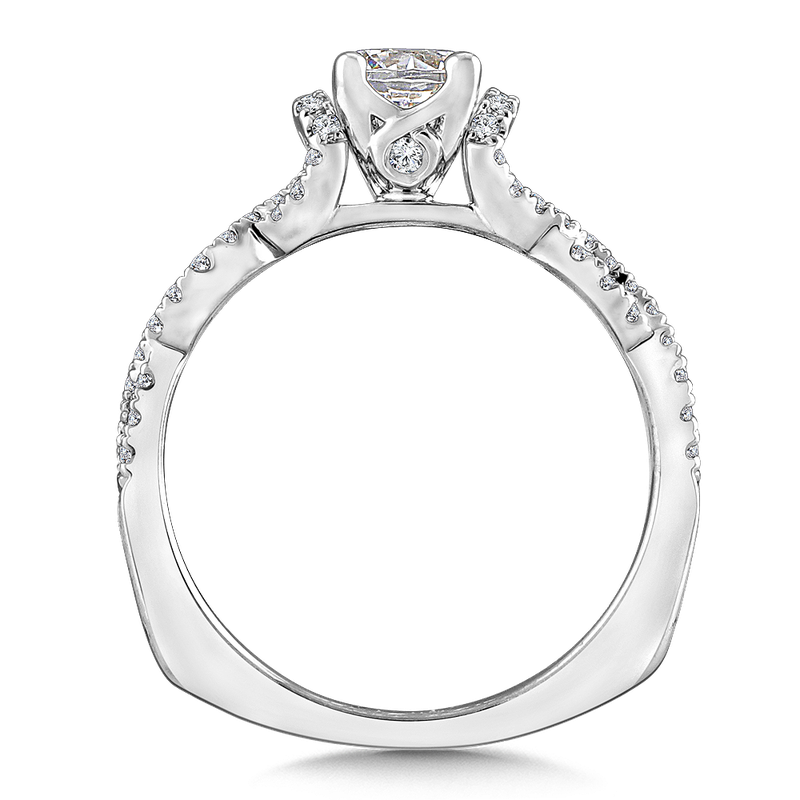 Valina Diamond Engagement Ring Mounting in 14K White Gold (.29 ct. tw.)