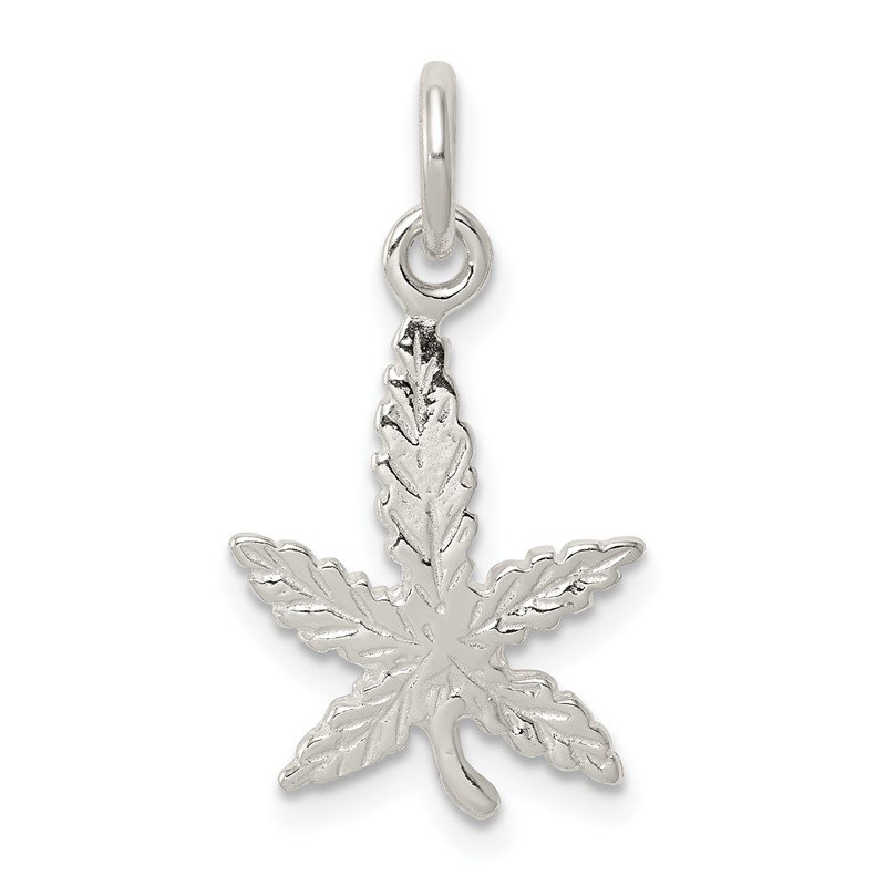 Quality Gold Sterling Silver Leaf Charm