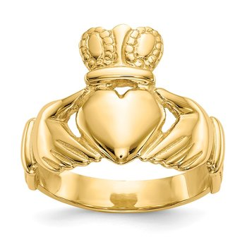 14k Men's Claddagh Ring