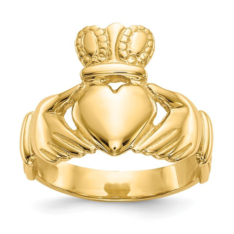 Quality Gold 14k Men's Claddagh Ring