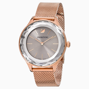 Octea Nova Watch, Milanese bracelet, Gray, Rose-gold tone PVD