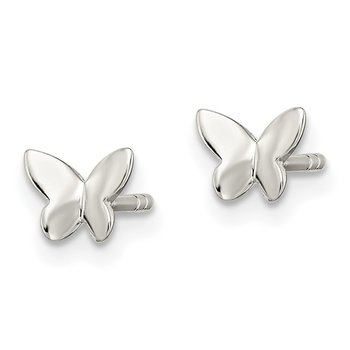 Sterling Silver Madi K Butterfly Post Earrings