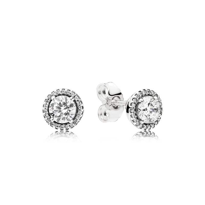 Pandora Classic Elegance Stud Earrings, Clear Cz