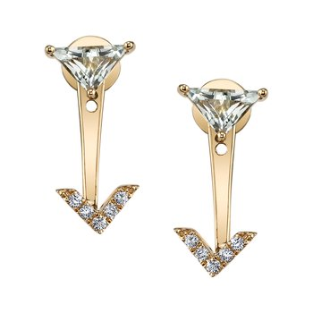 MARS 26915 Fashion Earrings, 0.08 Dia. 0.68 G Ameth.
