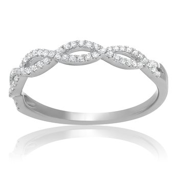 White Diamond Infinity Band
